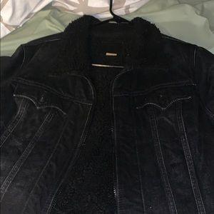 True religion black jean jacket